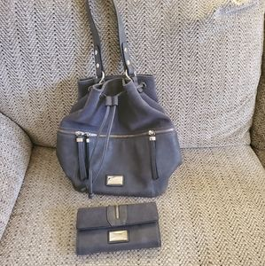 👒Simply Noelle, gray, hobo bag and wallet